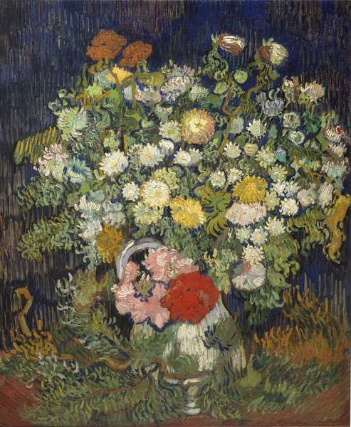 Bouquet of Flowers in a Vase, 1890 (oil on canvas)