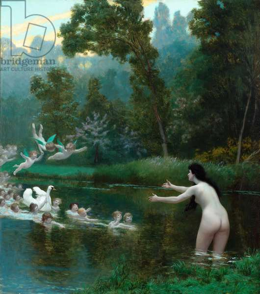 Leda and the Swan, 1895 (oil on canvas)