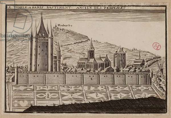 Le Temple à Paris bastiment ancien des templiers (engraving)