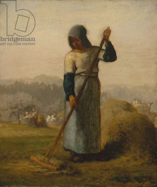 Woman with a Rake, probably 1856–57, (oil on canvas)