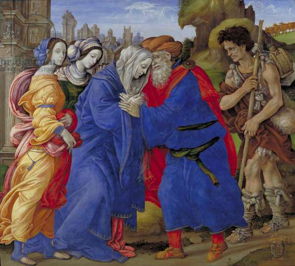 The Meeting of Joachim and Anne outside the Golden Gate of Jerusalem, 1497 (tempera on panel)