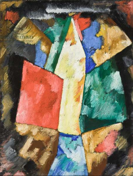 Abstraction; Blue, Yellow and Green, c.1913 (oil on canvas)
