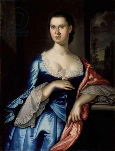 Portrait of Elizabeth Chew Smith, 1762 (oil on canvas)