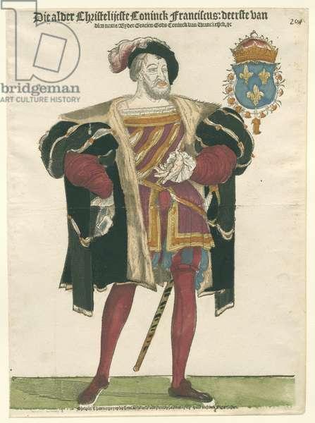 Portrait of Francois I (1494-1547), King of France, 1538-c.1547 (print)