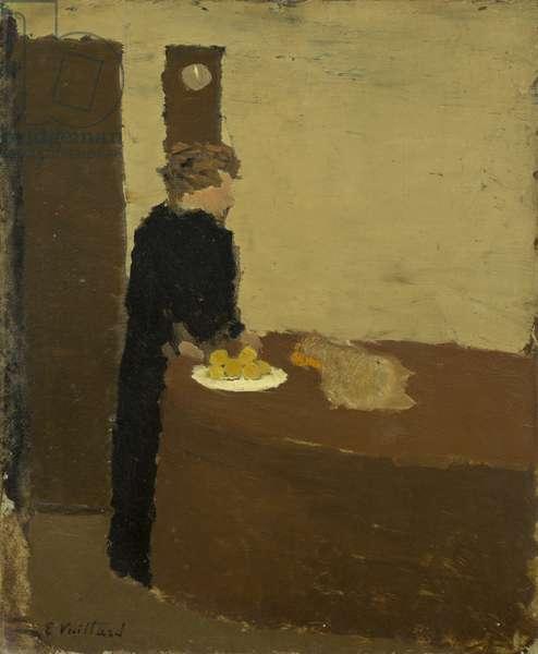 Woman in Black, c.1891 (oil on cardboard)