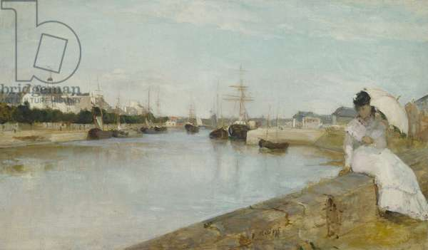 The Harbour at Lorient, 1869 (oil on canvas)