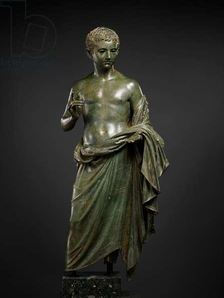 Bronze statue of an aristocratic boy, 27 BC-14 AD (bronze)