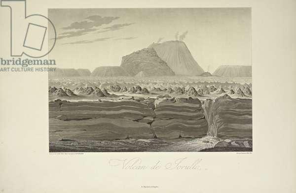Volcano of Jorullo, drawn by Gmelin, illustration from 'Vues des Cordillères et Monumens des Peuples Indigènes de l'Amérique' by Alexander von Humboldt and Aime Bonpland, 1813 (engraving)
