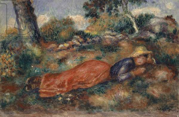 Young Woman Lying in the Grass, 1890-95 (oil on canvas)