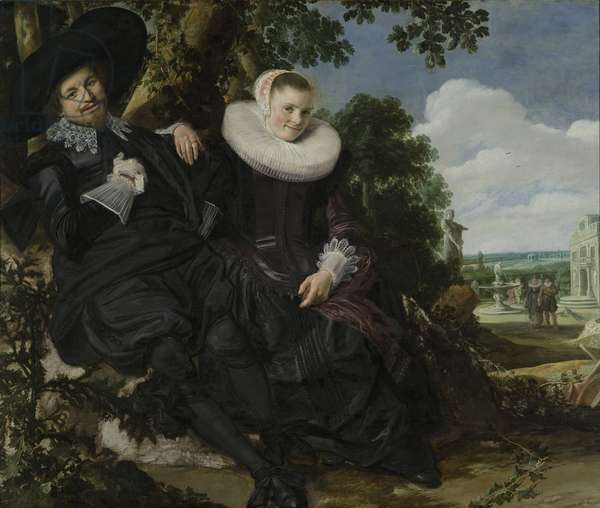 Portrait of a Couple, Probably Isaac Abrahamsz Massa and Beatrix van der Laen, c.1622 (oil on canvas)