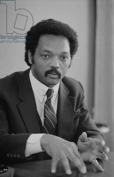 Rev. Jesse Jackson, 1983 (b/w photo)