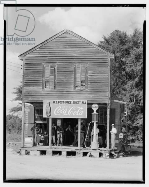Crossroads General Store in Sprott, Alabama, 1935-36 (b/w photo)