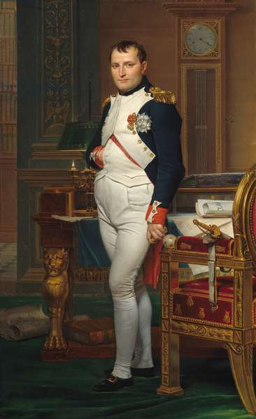 The Emperor Napoleon in His Study at the Tuileries, 1812 (oil on canvas)