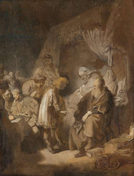 Joseph Telling his Dreams to his Parents and Brothers, 1633 (oil on paper)