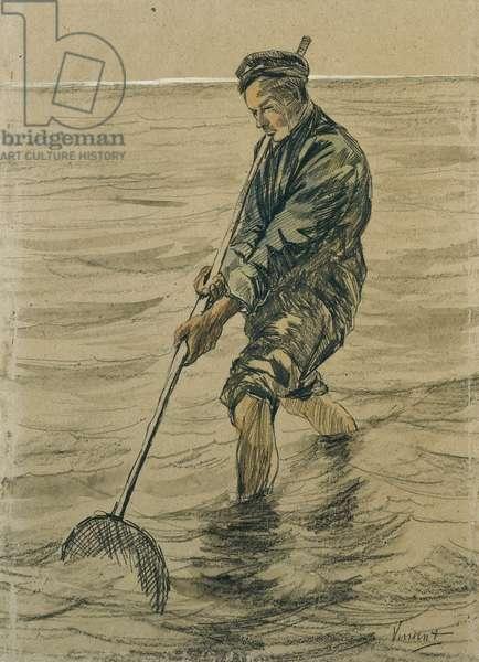 Shells Fisherman, 1863-90 (pencil and chalk)