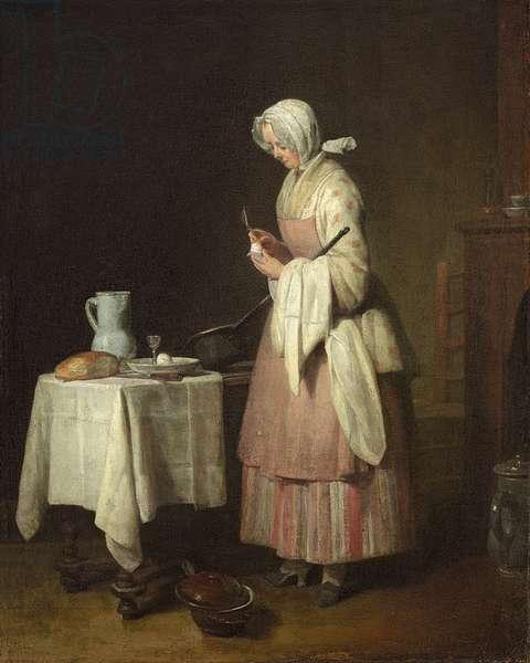 The Attentive Nurse, 1747 (oil on canvas)