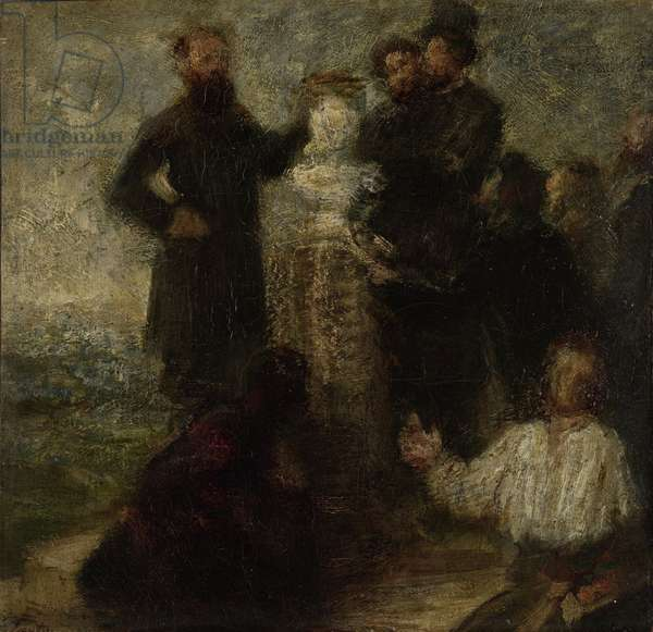 Homage to Delacroix, 1863-64 (oil on canvas)