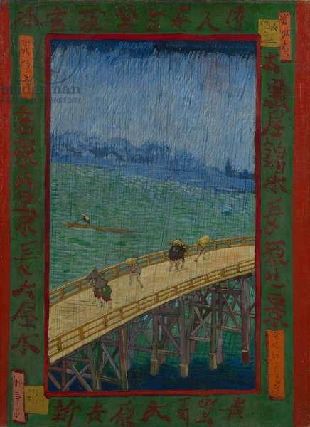 Japonaiserie: The Bridge in the Rain (after Hiroshige), Paris, 1887 (oil on canvas)