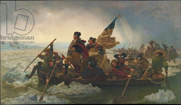 Washington Crossing the Delaware River, 25 Décembre 1776, 1851 (huile sur toile)