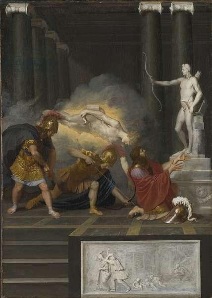 Achilles wounded by Paris, c.1650 (oil on canvas)