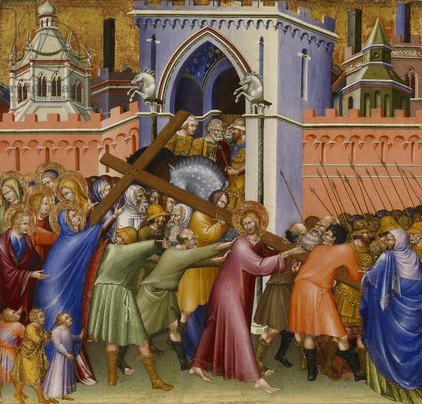 Christ on the Way to Calvary, from the Malavolti altarpiece, 1426 (tempera with gold leaf on panel)