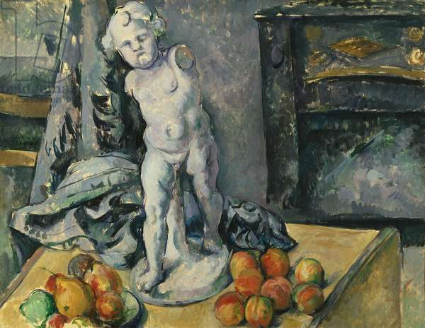 Still Life with Plaster Cupid, 1890s (oil on canvas)