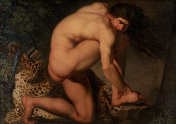 The Wounded Philoctetes, 1776 (oil on canvas)
