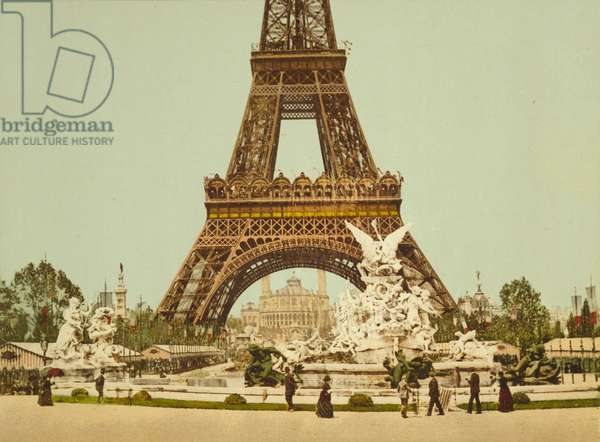 Eiffel Tower and Fountain, Exposition Universelle, Paris, France, c.1900 (photochrom)