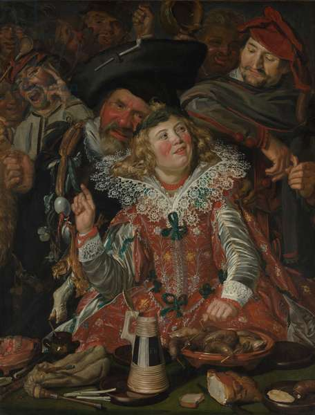 Shrovetide Revellers (The Merry Company) c.1615 (oil on canvas)