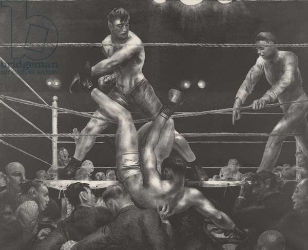 Dempsey and Firpo, 1924 (lithograph)