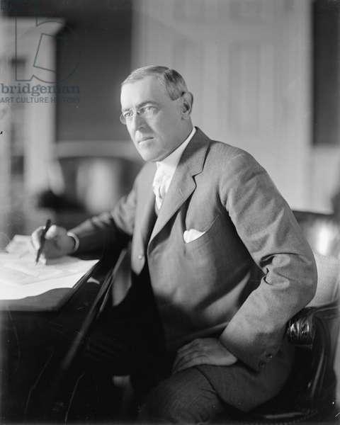 Woodrow Wilson, c.1913 (b/w photo)