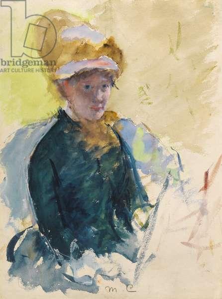 Self Portrait, c.1880 (gouache and w/c)