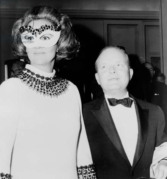 Katharine Graham with Truman Capote, 1966 (b/w photo)