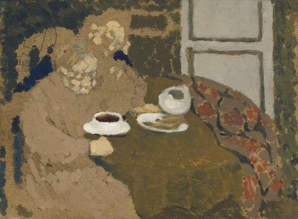 Two Women Drinking Coffee, c.1893 (oil on cardboard)