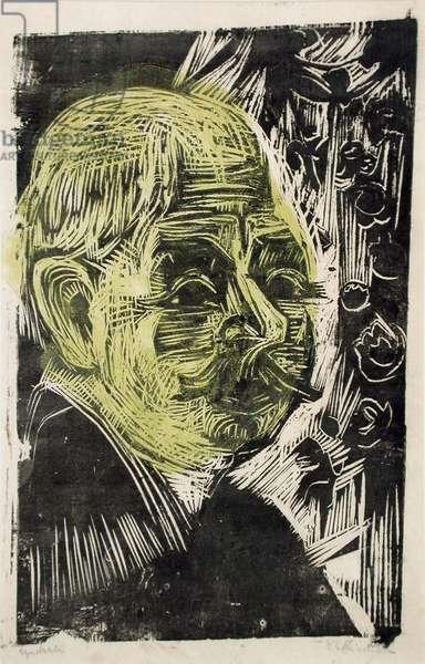Portrait of Dr. Spengler, 1919 (woodcut)