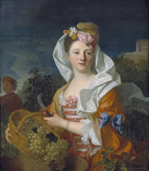 Portrait of a Lady as Pomona (oil on canvas)