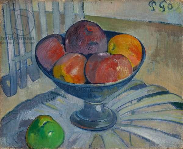Fruit dish on a Garden Chair, c.1890 (oil on canvas)
