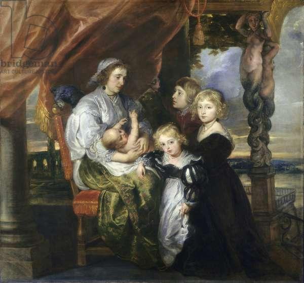 Deborah Kip, Wife of Sir Balthasar Gerbier, and Her Children, c.1629-30 (oil on canvas)
