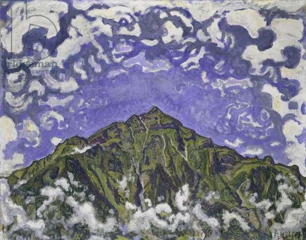 Mount Niesen seen from Heustrich, 1910 (oil on canvas)