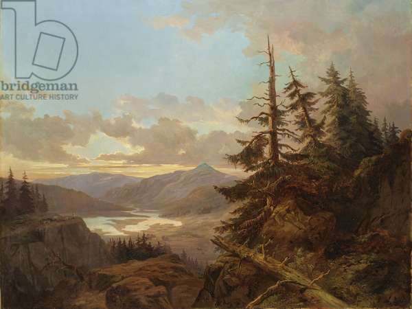 Norwegian Landscape in the Light of the Early Morning, 1863 (oil on canvas)
