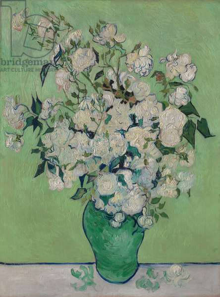 A Vase of Roses, 1890 (oil on canvas)