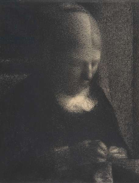 Embroidery; The Artist's Mother, 1882-83 (conté crayon on Michallet paper)