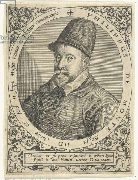 Portrait of the Composer Philippe de Monte (1521-1603), 1597-99 (engraving)