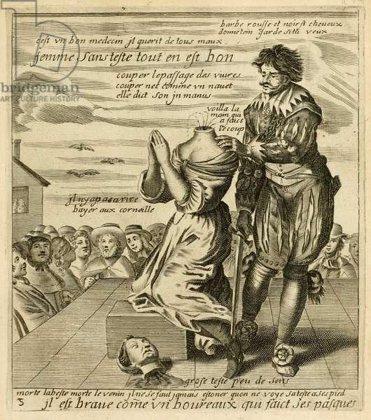 'Il est brave comme un boureaux qui faict ses pasques', from 'Recueil des plus illustres proverbes, divises en trois livres' by Jacques Lagniet, c.1657-63 (engraving)