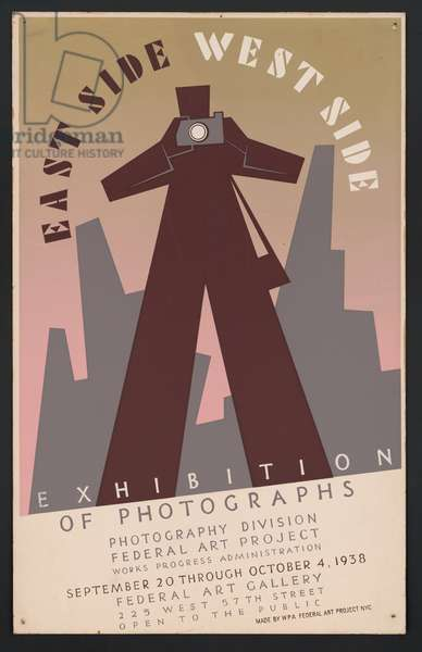 East side, West side exhibition of photographs, New York City, 1938 (litho)