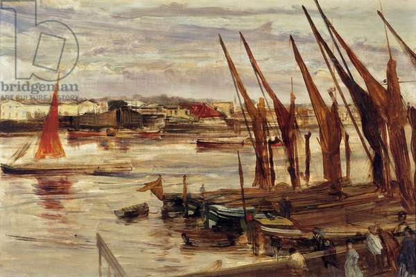 Battersea Reach, c.1863 (oil on canvas)