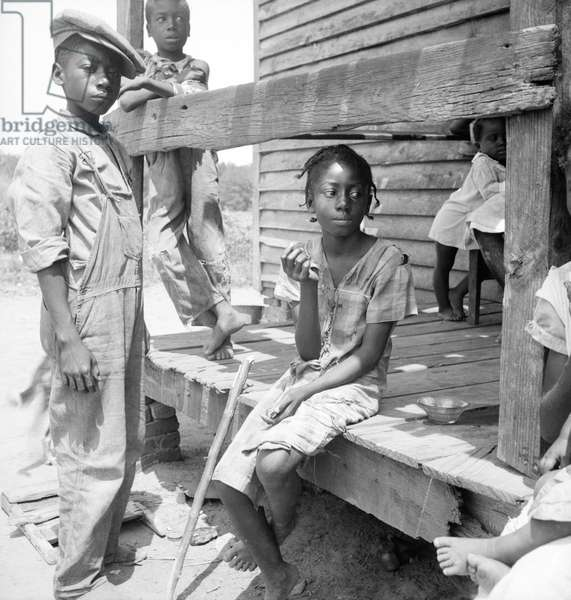 Mississippi African American children, 1936 (b/w photo)