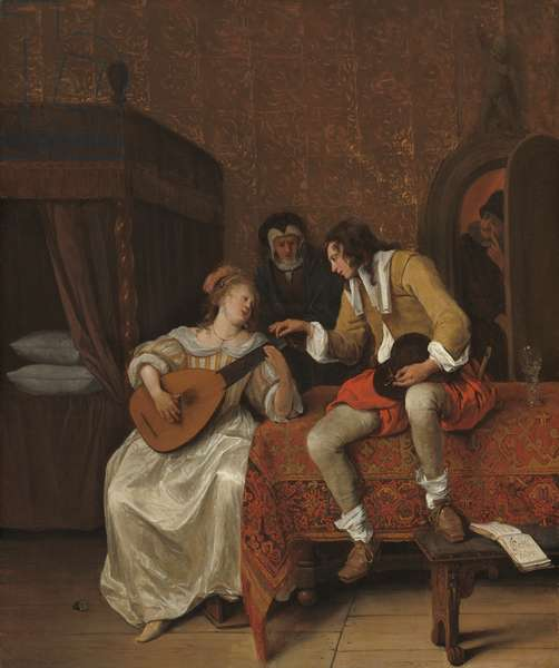 Ascagnes and Lucelle, The Music Lesson, 1667