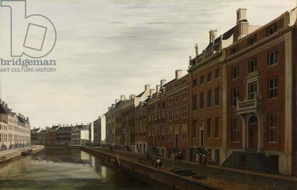 The 'Golden Bend' in the Herengracht, Amsterdam as seen from the West, 1672 (oil on panel)