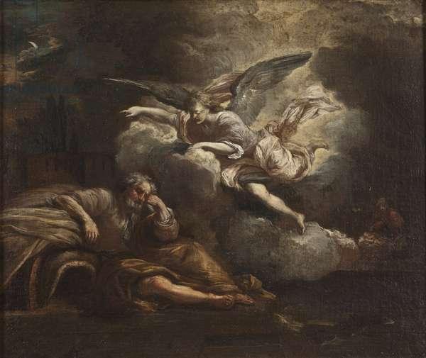 The Dream of Joseph (oil on canvas)